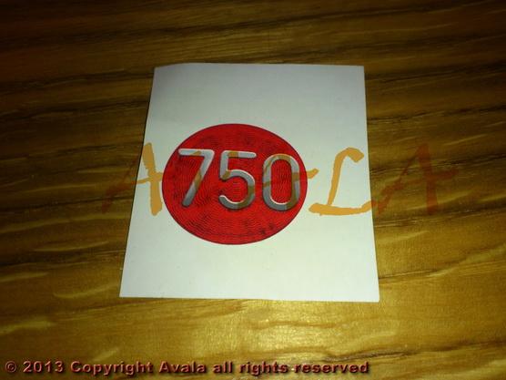 """Nalepnica okrugla 30mm """"750"""" *0902391*"""