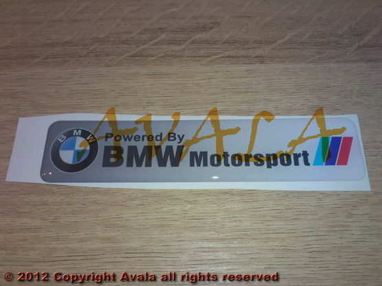 "Stiker 120x26mm ""BMW Motorsport"" beli *0902458*"