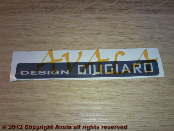 "Stiker 100x12mm ""Design Giugiaro"" *0902460*"