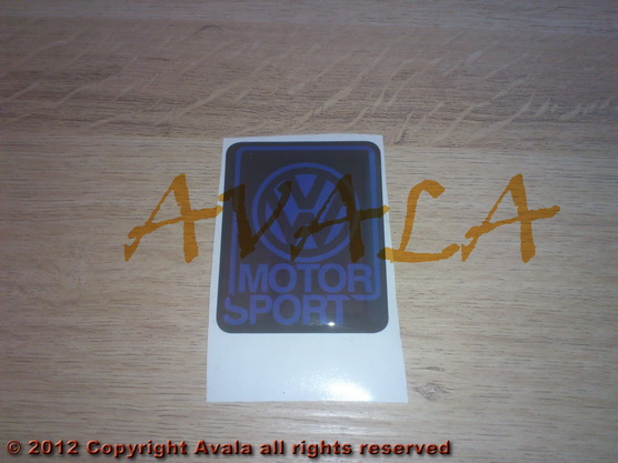 "Stiker četvrtasti 45x51mm ""VW Motorsport"" *0902469*"