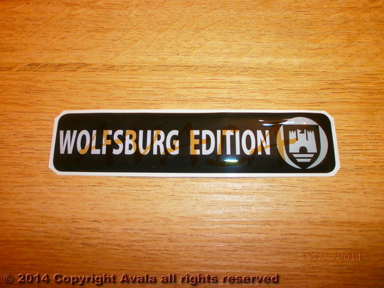 "Stiker 120x26mm ""Wolfsburg edition"" (crni) *0902559*"