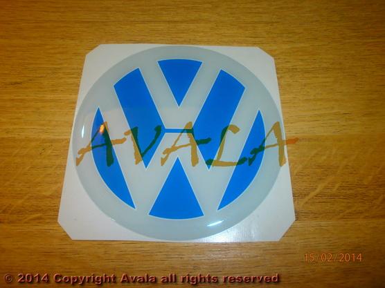 """Stiker okrugli 108mm """"VW"""" *0902742*"""