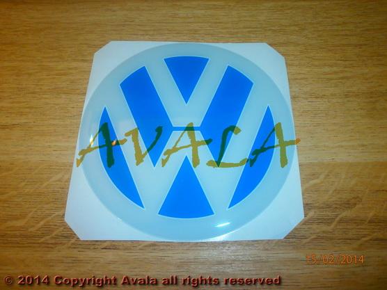 """Stiker okrugli 115mm """"VW"""" *0902743*"""