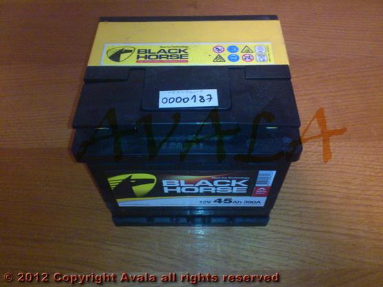 Akumulator 12V 45Ah +L 390A Black Horse *0000187*