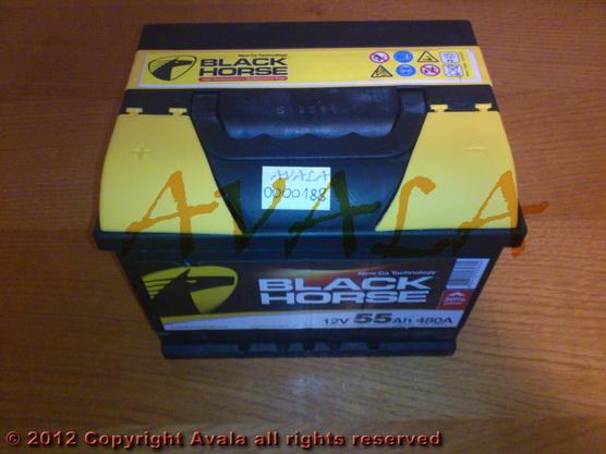 Akumulator 12V 55Ah +L 480A Black Horse *0000188*