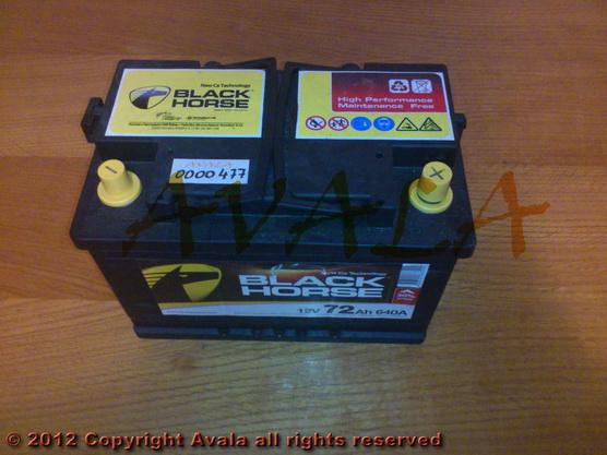 Akumulator 12V 72Ah +D 640A Black Horse *0000477*