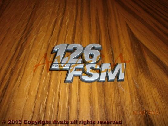 """Auto oznaka """"126 FSM"""" *0104274*"""