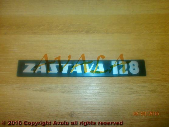 """Auto oznaka """"ZASTAVA 128"""" *0304244*"""