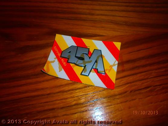 """Auto oznaka """"45A"""" *0404047*"""