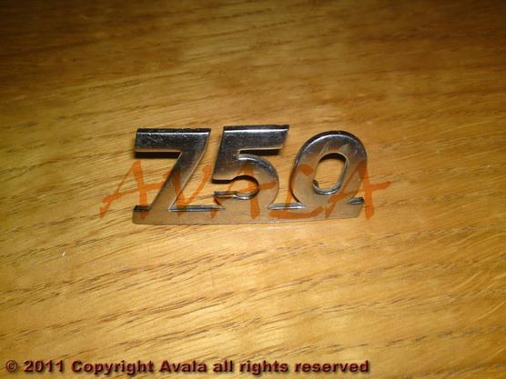 "Auto oznaka ""750"" niklovana *0804354*"