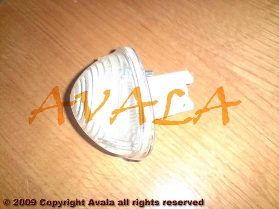 Migavac prednji plastični beli *0804511*