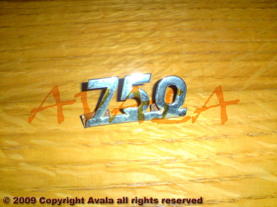 "Auto oznaka ""750"" niklovana *0804582*"