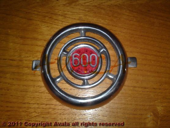 """Auto oznaka """"600"""" na veznom limu stari tip aluminijumska *0804749*"""
