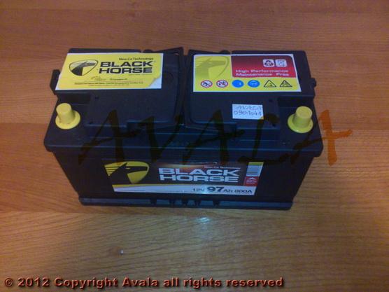 Akumulator 12V 97Ah +D 800A Black Horse *0901041*