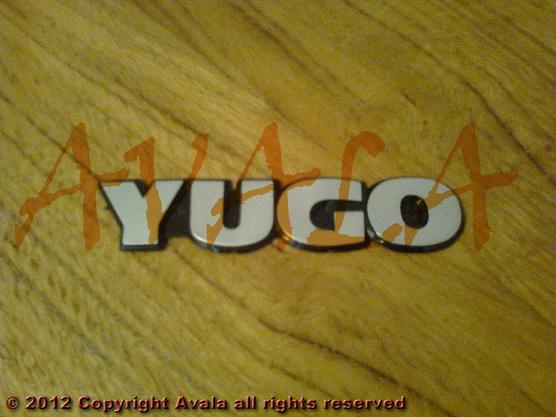 "Auto oznaka ""YUGO"" veća *0901325*"