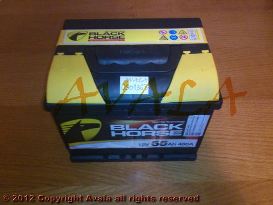 Akumulator 12V 55Ah +D 480A Black Horse *0901363*