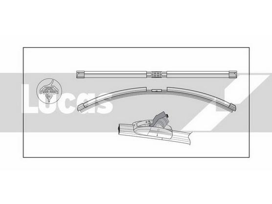 Metlica brisača 380mm Flat Blade Clear Vision *0901603*