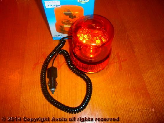 Lampa rotaciona žuta 12V H1 55W na magnet *0901900*