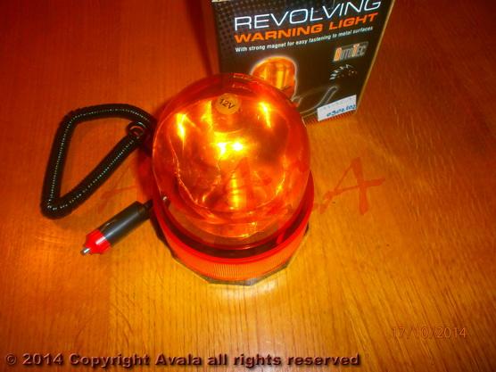 Lampa rotaciona žuta 12V 10W na magnet *0902102*