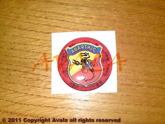 "Stiker okrugli 36mm ""Abarth"" (stari znak) *0902272*"
