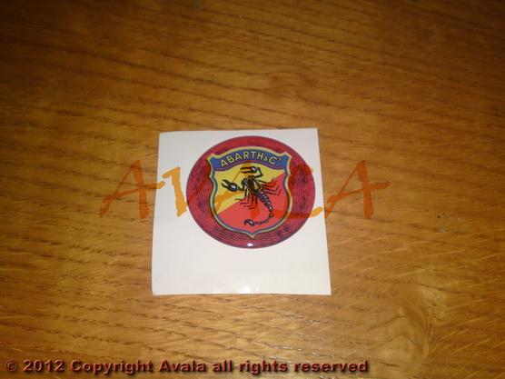 "Stiker okrugli 50mm ""Abarth"" (stari znak) *0902294*"