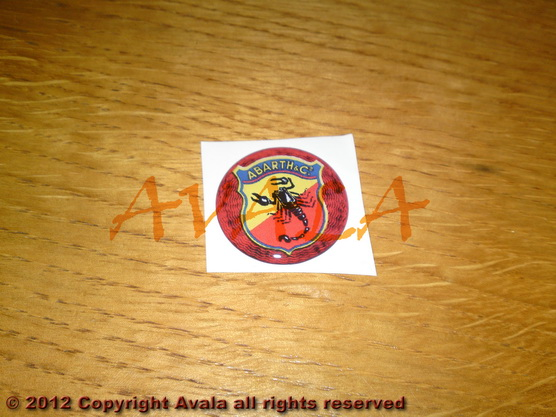"Stiker okrugli 30mm ""Abarth"" (stari znak) *0902325*"