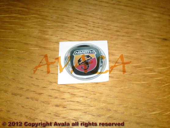 "Stiker okrugli 30mm ""Abarth"" (novi znak) *0902362*"