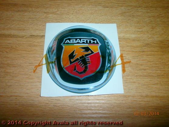 "Stiker okrugli 80mm ""Abarth"" (novi znak) *0902375*"