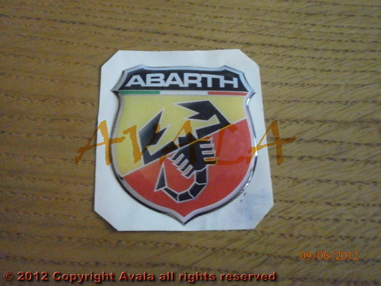 "Stiker 48x53mm ""Abarth"" (novi znak) *0902387*"