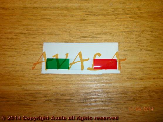 """Stiker 71x11mm """"Italija"""" *0902389*"""
