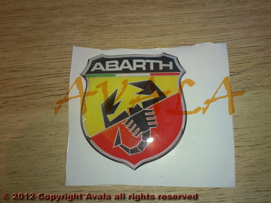 "Stiker 40x44mm ""Abarth"" (novi znak) *0902441*"