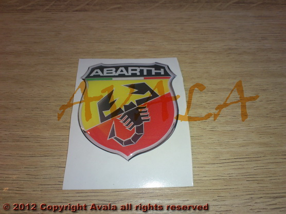 "Stiker 43x47mm ""Abarth"" (novi znak) *0902449*"