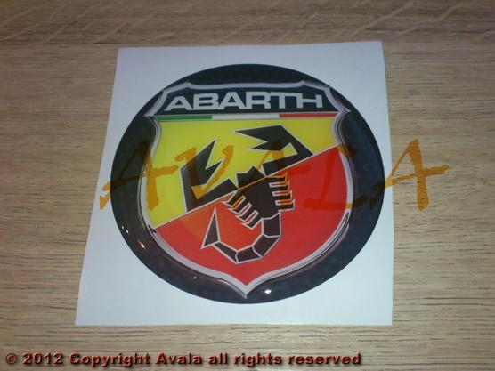 "Stiker okrugli 72mm ""Abarth"" (novi znak) carbon *0902457*"