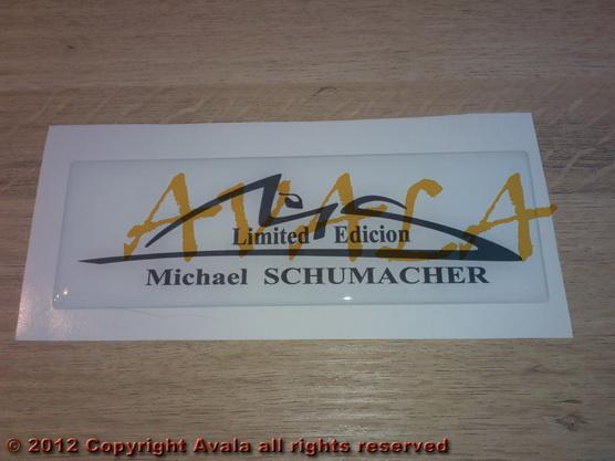 "Stiker 150x50mm ""Michael Schumacher"" beli *0902461*"