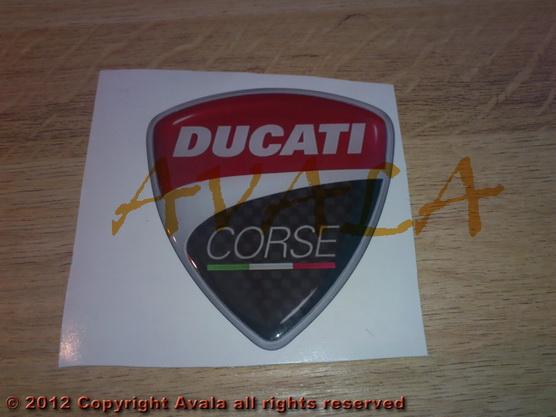 "Stiker 63x67mm ""Ducati Corse"" *0902464*"