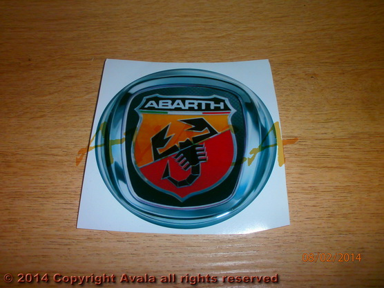 "Stiker okrugli 95mm ""Abarth"" (novi znak) *0902465*"