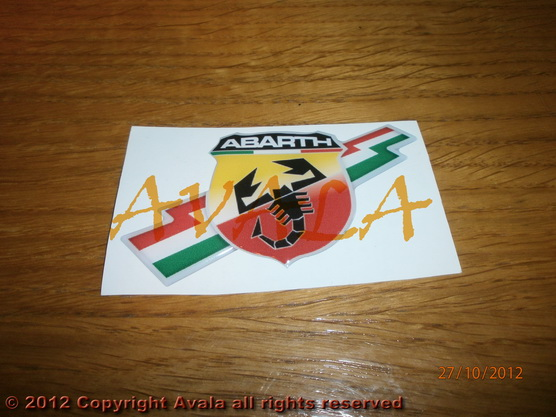 "Stiker 87x50mm ""Abarth"" *0902508*"