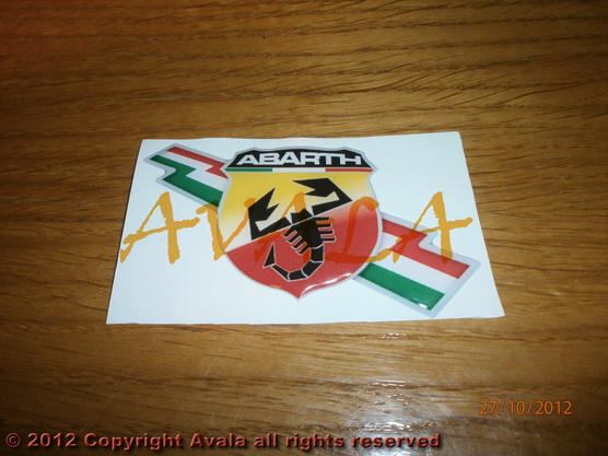 "Stiker 87x50mm ""Abarth"" *0902509*"