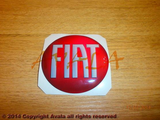 """Stiker okrugli 72mm """"FIAT"""" *0902536*"""
