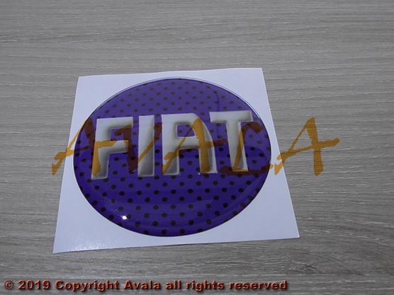 """Stiker okrugli 72mm """"FIAT"""" (plavi) *0902537*"""