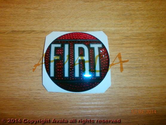 """Stiker okrugli 72mm """"Fiat"""" (stari znak) *0902538*"""