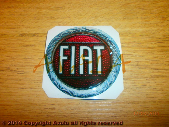 """Stiker okrugli 72mm """"FIAT"""" (stari znak) *0902539*"""
