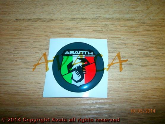 "Stiker okrugli 50mm ""Abarth"" (novi znak) *0902547*"