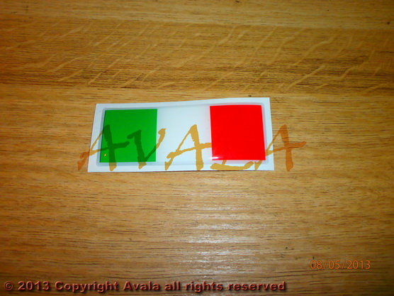 """Stiker 73x28mm """"Italija"""" *0902584*"""