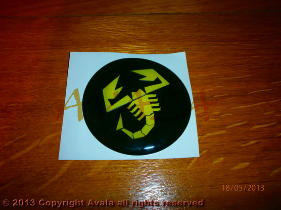 "Stiker okrugli 74mm ""Abarth"" *0902638*"