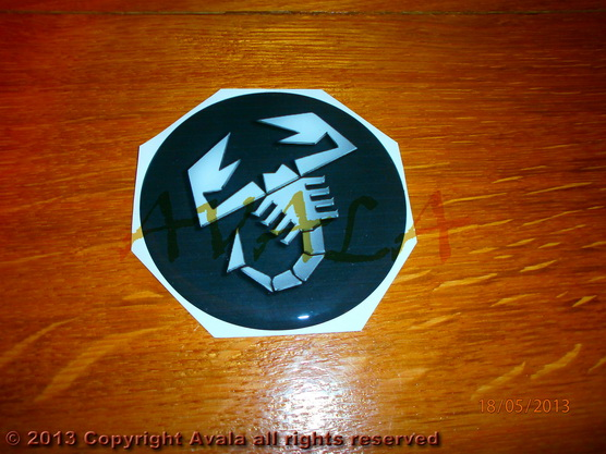 "Stiker okrugli 80mm ""Abarth"" *0902639*"