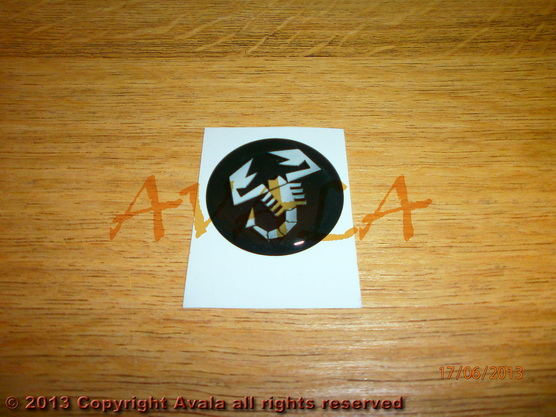 "Stiker okrugli 30mm ""Abarth"" *0902666*"