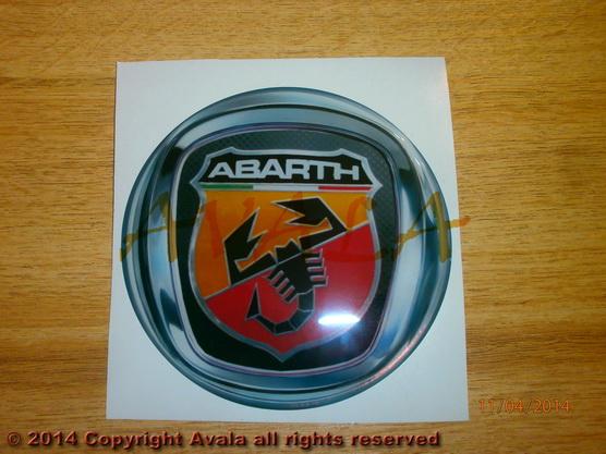 "Stiker okrugli 113mm ""Abarth"" (novi znak) *0902778*"