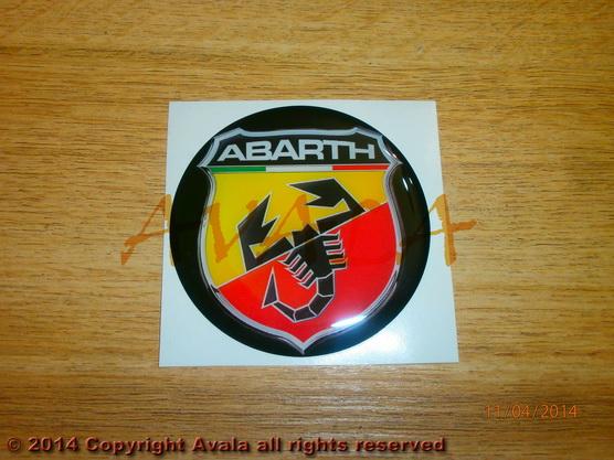 "Stiker okrugli 72mm ""Abarth"" (novi znak) *0902779*"