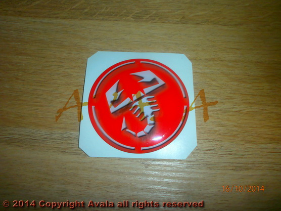 "Stiker 72mm ""Abarth"" crveni *0902850*"